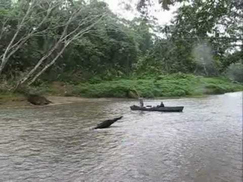 River crossing in the Kuna reservation, Panamanian jungle, BMW F650GS