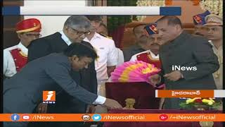 Justice Radhakrishnan Takes Oath as New CJ of High Court | Hyderabad | iNews - INEWS