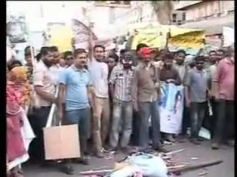 MQM's protest went wrong - rent a protester, hahaha !!!!
