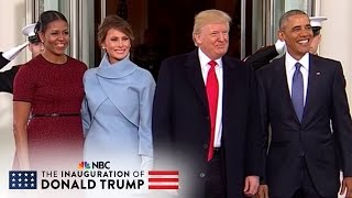 The Obamas Welcome The Trumps At The White House | NBC News - NBCNEWS