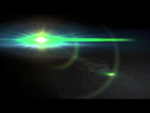 Bright Green Lens Flare - UFO Looking Object