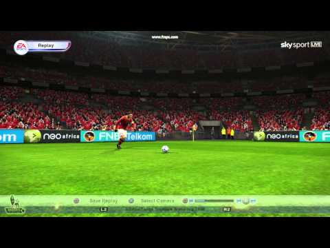 AS Roma vs Siena - Totti amazing freekick goal on pes2013
