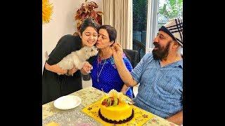 Actress Charmi Parents Wedding Anniversary Celebratios |  Charmi Family Images - RAJSHRITELUGU