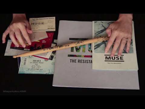 ASMR - Show and Tell of my MUSE memorabilia