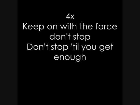 Michael Jackson - Don't stop 'til you get enough (Lyrics)
