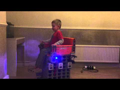 Alfie controlling the LEGO Wheelchair