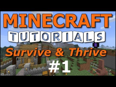 Minecraft Tutorials - E01 - How to Survive your First Night (UPDATED!)