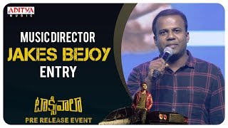 Music Director Jakes Bejoy Speech @ Taxiwaala Pre-Release EVENT Live || Vijay Deverakonda - ADITYAMUSIC