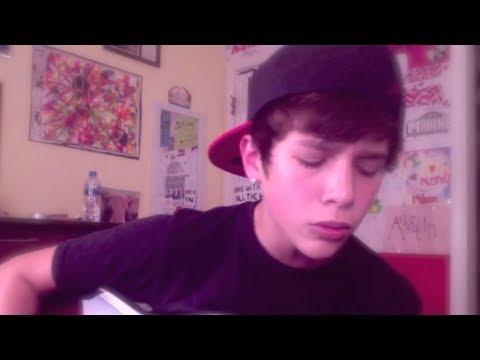 """Up"" Justin Bieber acoustic version - Austin Mahone cover"