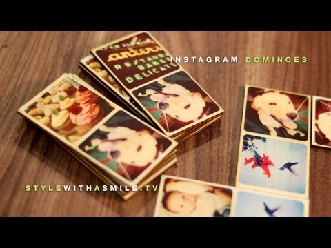 Instagram Dominoes: A Personalized Gift Using Craft Attitude