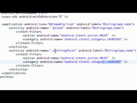Android Application Development Tutorial - 13 - Introduction to the Android Manifest