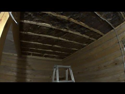 Обшивка потолка своими руками в бане