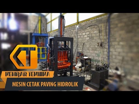 Video Mesin Cetak Paving Block Hidrolik