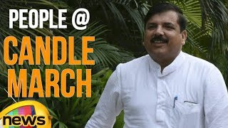 MP Sanjay Singh Addresses People at Candle March | Delhi Latest News Updates | Mango News - MANGONEWS