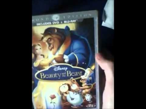 Unboxing Beauty and the Beast Diamond Edition Blu-Ray/DVD