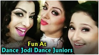 Sneha, Laila & Sudha Chandran Fun time at Dance Jodi Dance Juniors Set - RAJSHRITELUGU