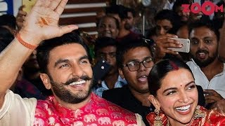 Newlywed DeepVeer RECEIVED a warm welcome after they returned from their wedding in Italy - ZOOMDEKHO