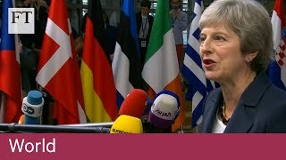 EU leaders meet over stalled Brexit talks - FINANCIALTIMESVIDEOS