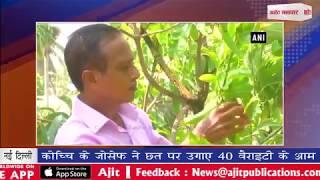 video : कोच्चि के जोसेफ ने छत पर उगाए 40 वैराइटी के आम