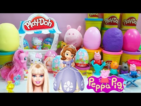 Barbie Kinder Surprise Eggs Peppa Pig Tom and jerry Play Doh Mickey Mouse