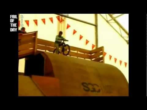 bmx ramp crash FAIL