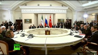 Putin, Rouhani & Erdogan meet for Syria talks in Sochi - RUSSIATODAY