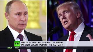 White House: Trump invites Putin to Washington this fall - RUSSIATODAY