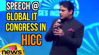 IT Minister KTR Superb Speech at Global IT Congress in HICC Hyderabad | Mango News - MANGONEWS