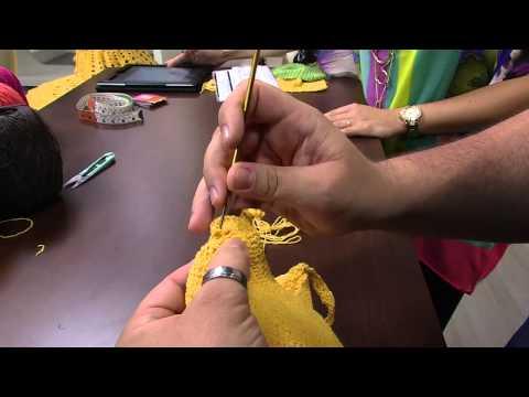 Mulher.com 20/02/2015 Marcelo Nunes - Top em crochê Parte 2/2
