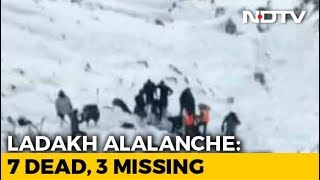 2 More Bodies Found At Ladakh Avalanche Site, Number Of Dead Rise To 7 - NDTV