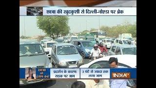 Class 9 student suicide: Protesters demand arrest of accused teacher, block NH-24 highway - INDIATV