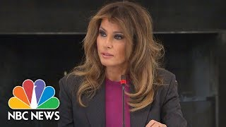 Melania Trump Says She's Aware People Are Skeptical Of Her Anti-Cyberbullying Campaign | NBC News - NBCNEWS