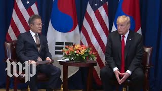 Trump participates in meeting with South Korea's president - WASHINGTONPOST