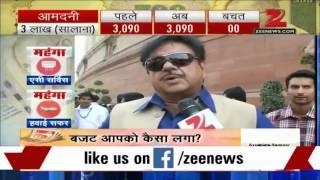 Shatrughan Sinha lauds Budget 2015, calls it a peoples' budget - ZEENEWS