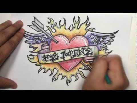 How To Draw Graffiti Hearts 0 graffiti drawings of hearts