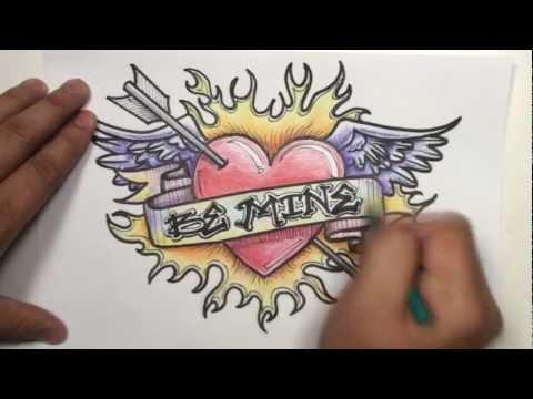 How To Draw Graffiti Hearts 0 graffiti drawings of hearts