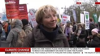 Why Actress Emma Thompson Has Joined The Climate March - SKYNEWS