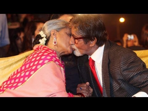 Jaya Kisses Amitabh Bachchan Publicly | Screen Awards 2014