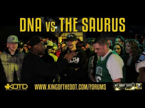 KOTD - Rap Battle - DNA vs The Saurus