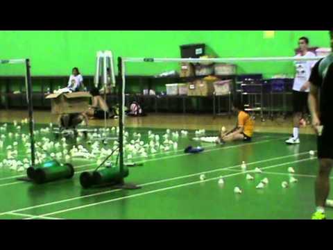 Training Erik Meijs and Ratchanok Intanon at Banthongyord Badminton School Bangkok