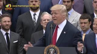 US President Donald Trump Congratulations To Super Bowl Champion New England Patriots | Mango News - MANGONEWS