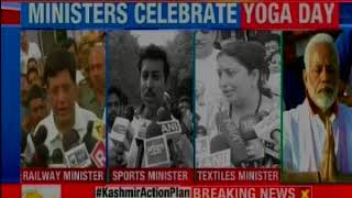 People from across India observe Yoga day; over 50,000 people join Yoga demonstration - NEWSXLIVE