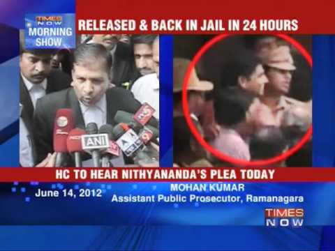 Nityananda's custody ends today