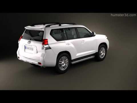 Toyota Land Cruiser Prado 5door 2010 by 3D model store Humster3D.com