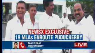 Exclusive visuals on NewsX: TTV Dinakaran en-route Puducherry stops for lunch with MLAs - NEWSXLIVE