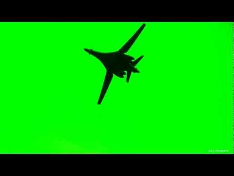 B-1 Lancer Fighter Plane - Green Screen Animation