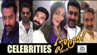 Celebrities launches Akhil's Hello first look - idlebrain.com - IDLEBRAINLIVE