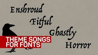Fonts have theme songs now, because internet - CNETTV
