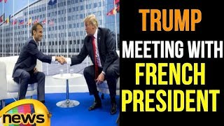 President Trump Bilateral Meeting with French President at NATO Summit | Trump News  | Mango News - MANGONEWS