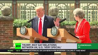 'Highest level of special': Trump praises US-UK relations - RUSSIATODAY